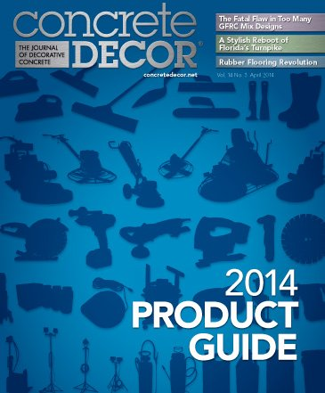 Concrete Decor magazine product guide
