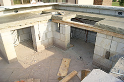Concrete blocks make a good structural foundation for outdoor kitchens. Their surfaces bond well with : outdoor kitchen concrete countertop - hauntedcathouse.org