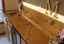 The sealer was used on this countertop is rated to protect from UV rays.