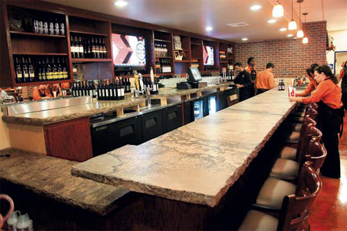 Dishing up decorative concrete one restaurant at a time