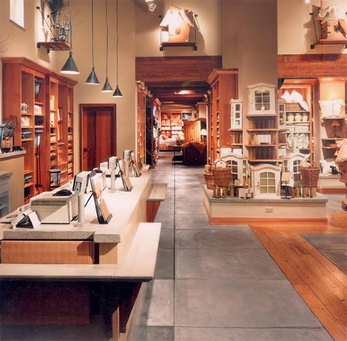 design ideas retail spaces decorative concrete - Pottery Design Ideas