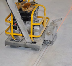 Each of the 2,400 squares in the project were cut using a machine known today as the Husqvarna Soff-Cut 150 walk-behind concrete saw.