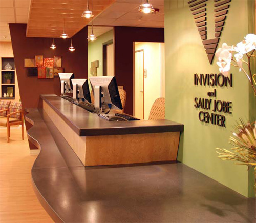 To greet visitors to a new facility, the Invision Sally Jobe radiology center in Denver, Colo., was looking for an aesthetically pleasing reception desk featuring a concrete countertop.