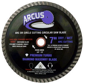 "Arcus 7"" dry/wet masonry blade"