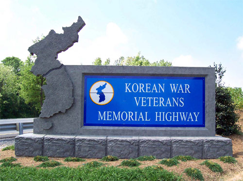 Korean War Memorial on Interstate 70 in Maryland Photo courtesy of Hunt Valley Contractors Inc.