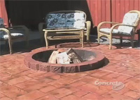 This video shows how to quickly restore color to a stamped and stained decorative concrete backyard patio using producs from NewLook International.